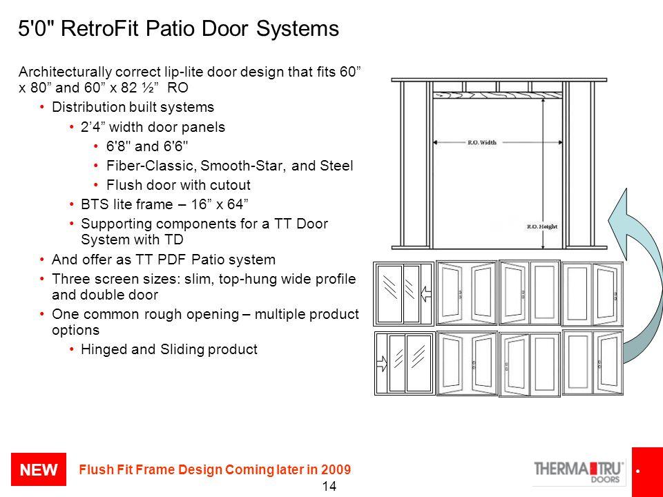 5 0 RetroFit Patio Door Systems