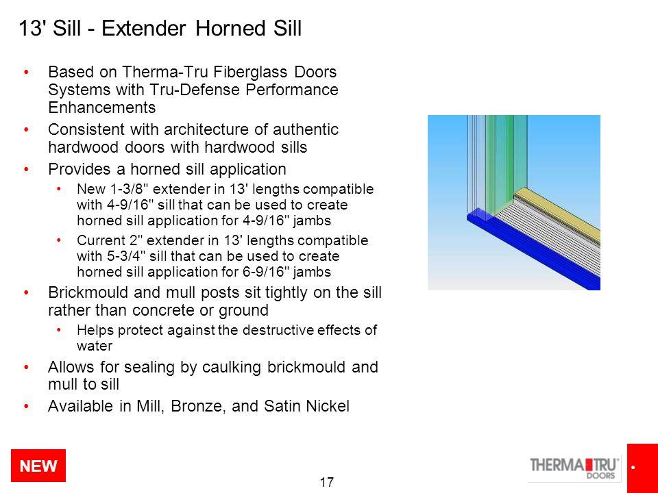 13 Sill - Extender Horned Sill