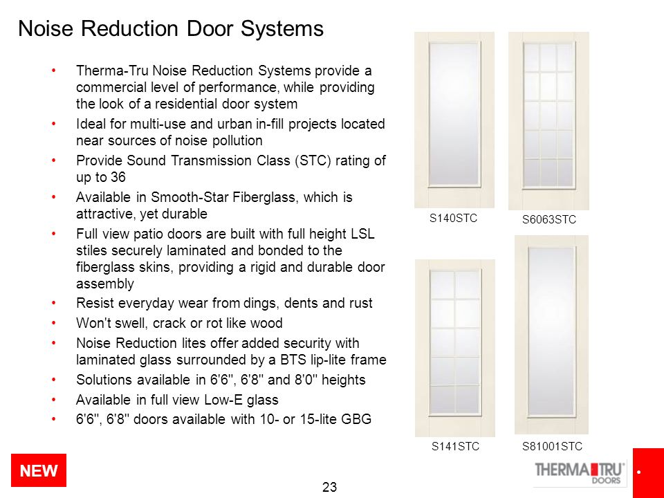 Noise Reduction Door Systems