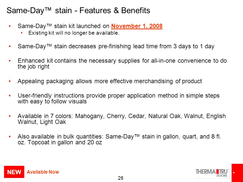 Same-Day™ stain - Features & Benefits