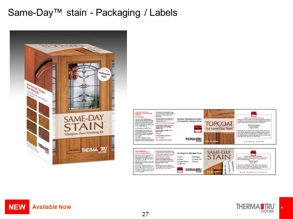 Same-Day™ stain - Packaging / Labels