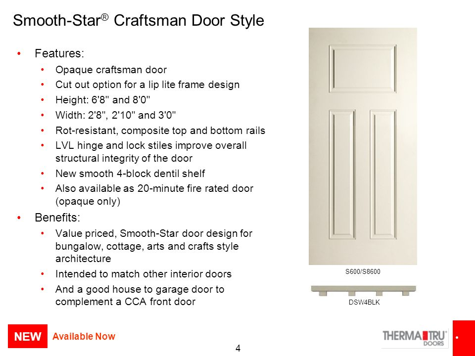 Smooth-Star® Craftsman Door Style