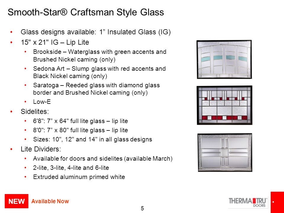 Smooth-Star® Craftsman Style Glass