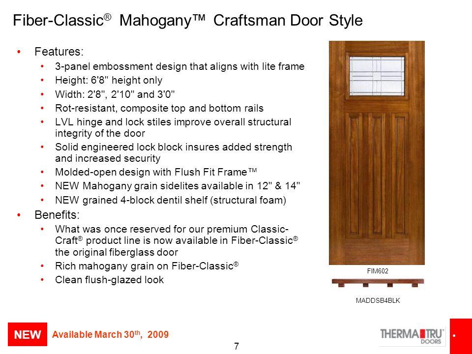 Fiber-Classic® Mahogany™ Craftsman Door Style