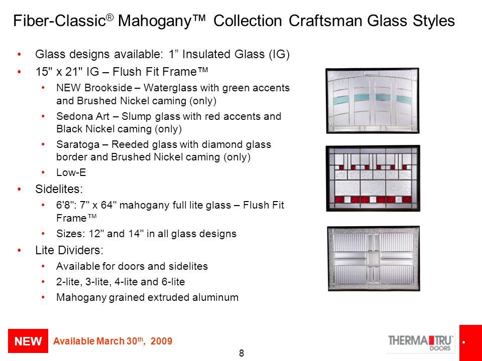 Fiber-Classic® Mahogany™ Collection Craftsman Glass Styles