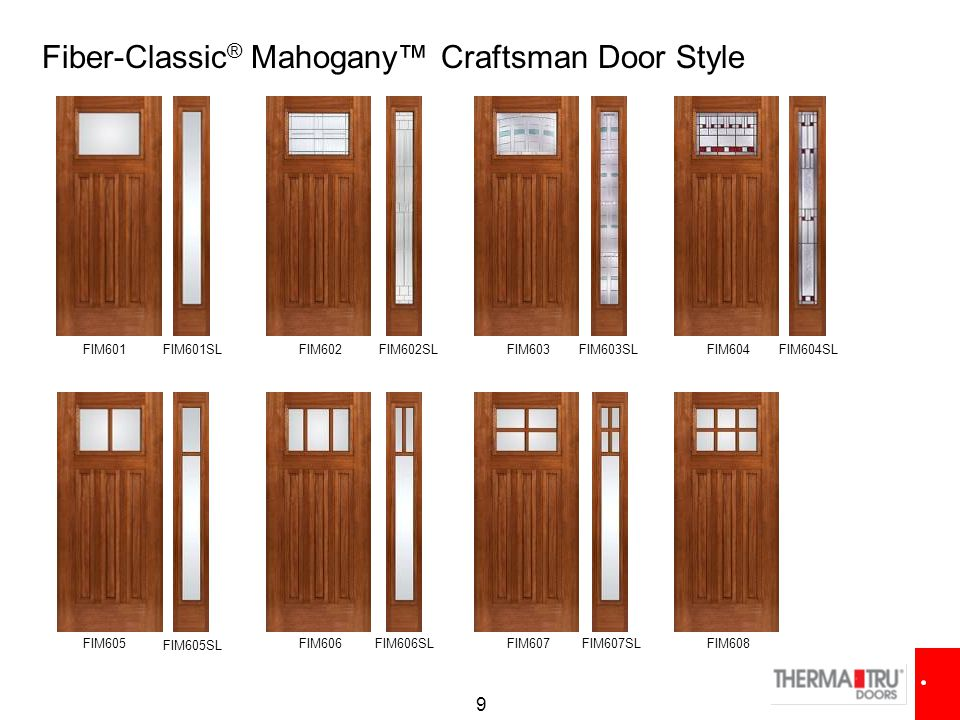 Therma tru college new products ppt video online download for Therma tru classic craft american style collection