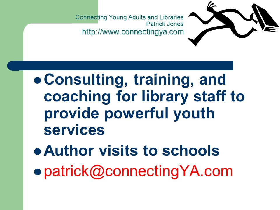 Author visits to schools patrick@connectingYA.com