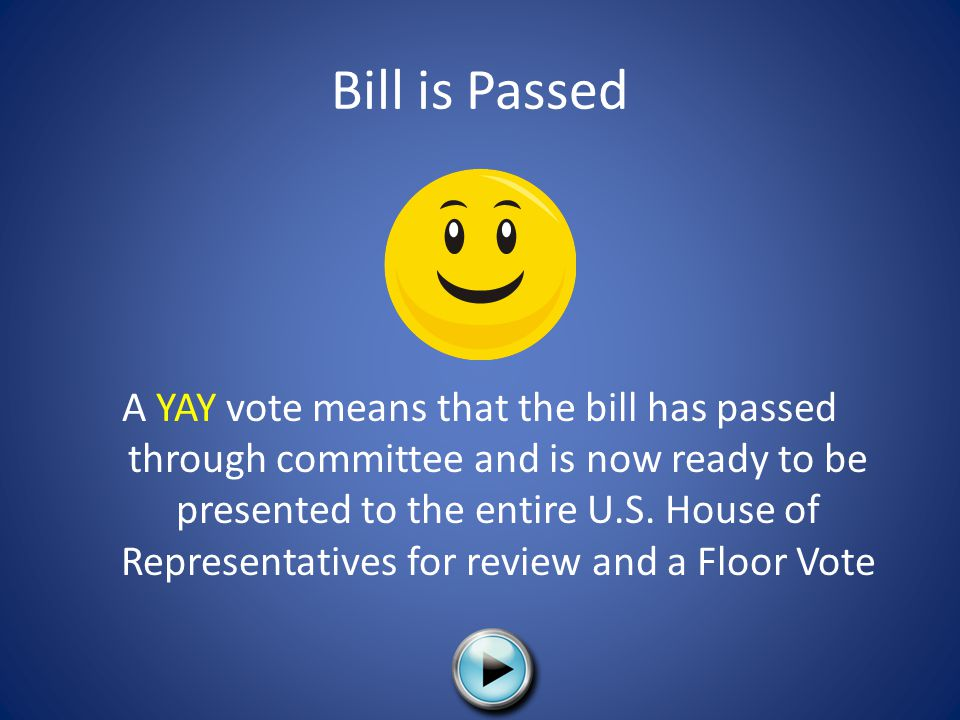 Bill is Passed