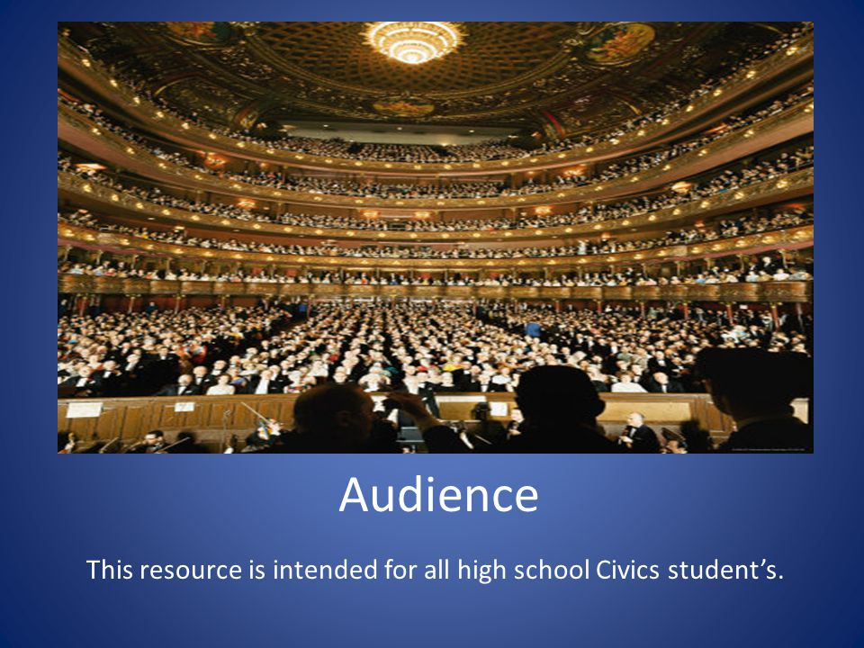 This resource is intended for all high school Civics student's.