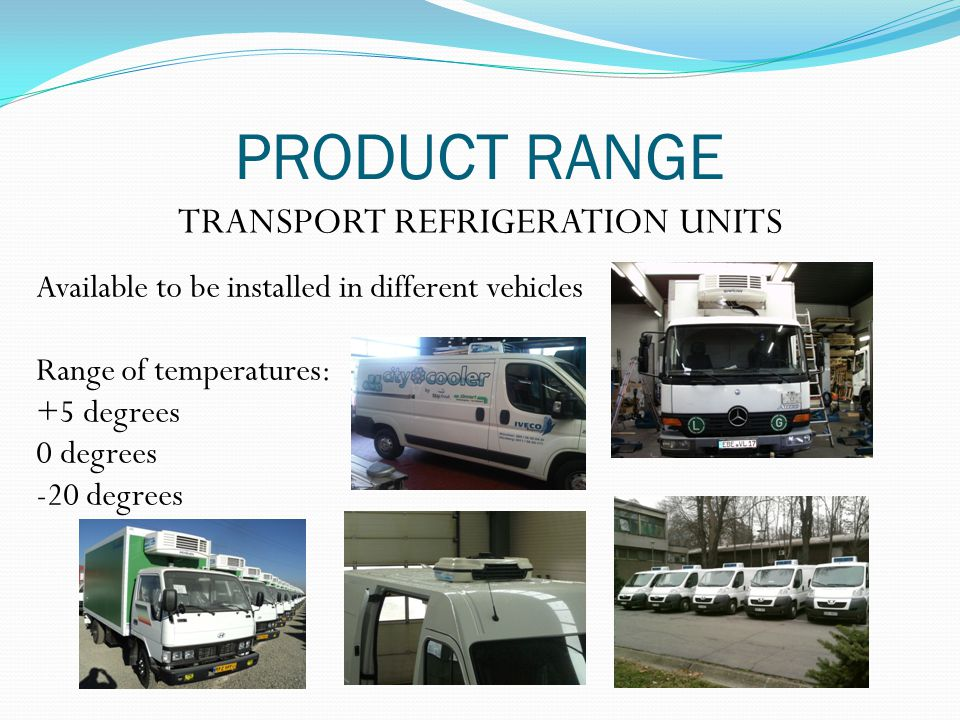 TRANSPORT REFRIGERATION UNITS