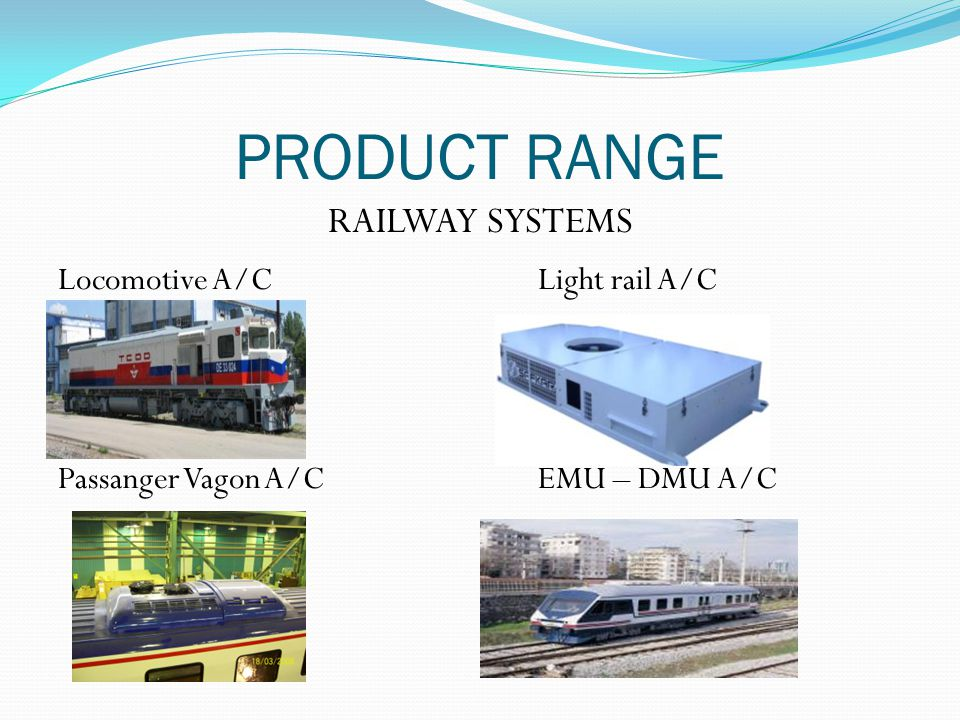 PRODUCT RANGE RAILWAY SYSTEMS