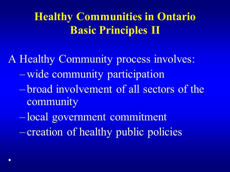 Healthy Communities in Ontario Basic Principles II