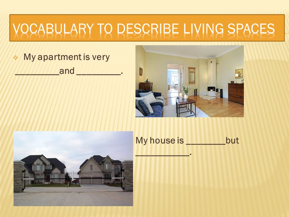 Vocabulary to describe living spaces