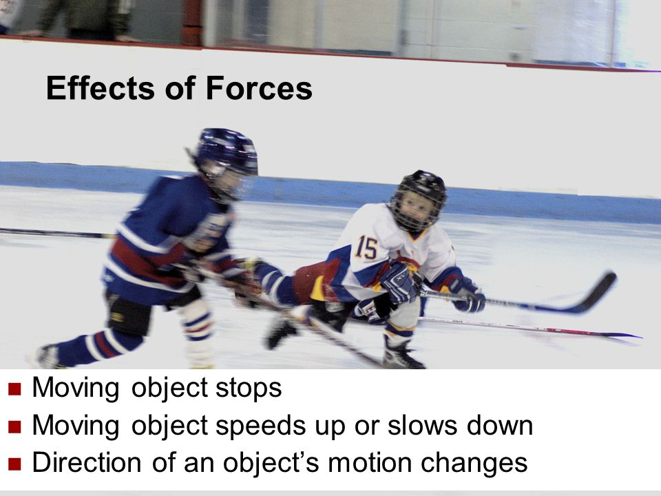 Effects of Forces Moving object stops