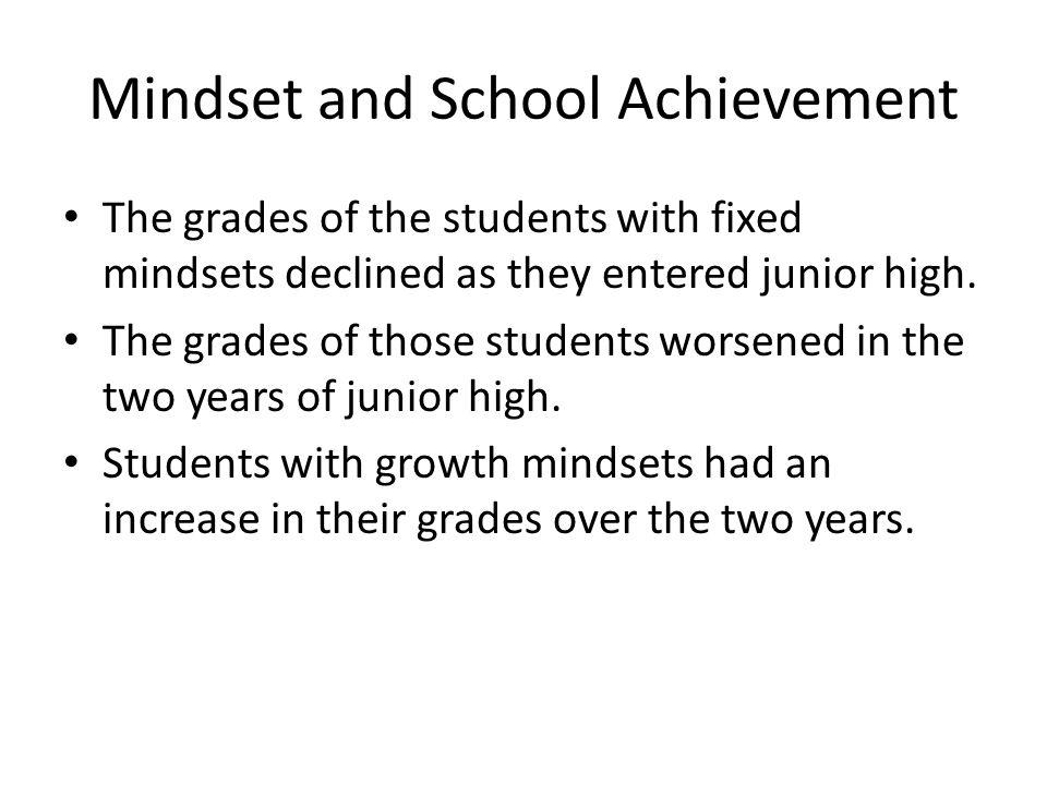 Mindset and School Achievement