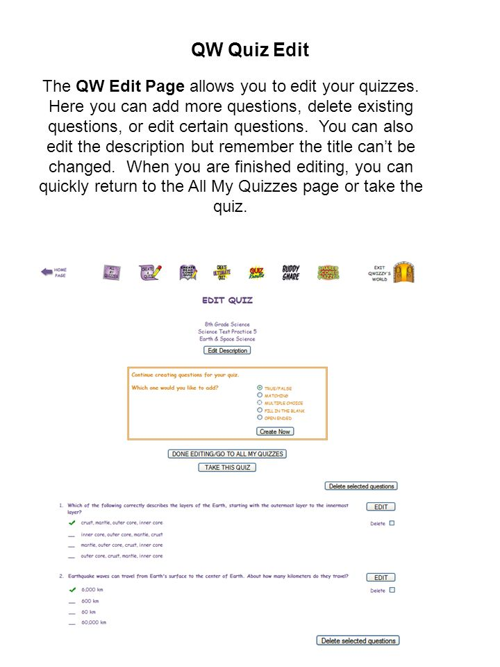 QW Quiz Edit