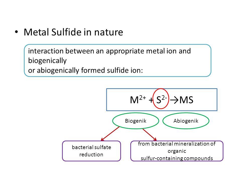 Metal Sulfide in nature