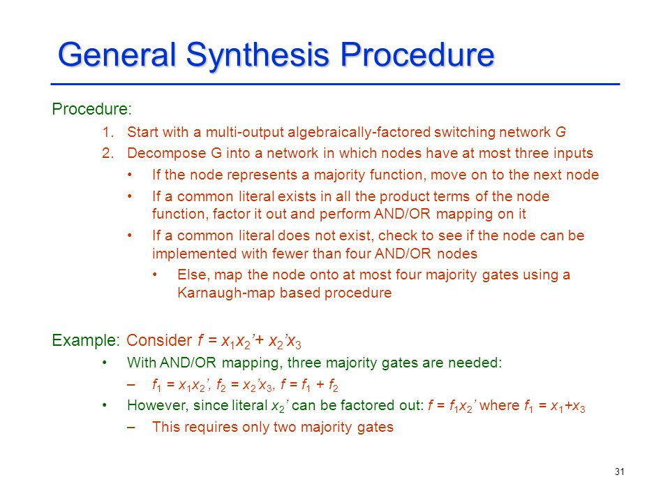 General Synthesis Procedure