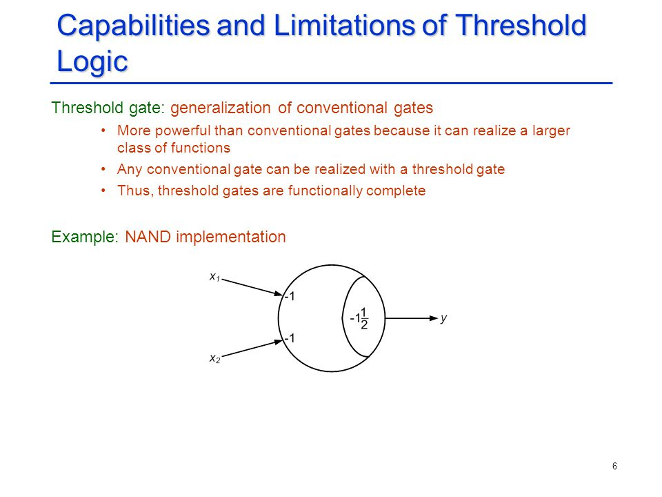 Capabilities and Limitations of Threshold Logic