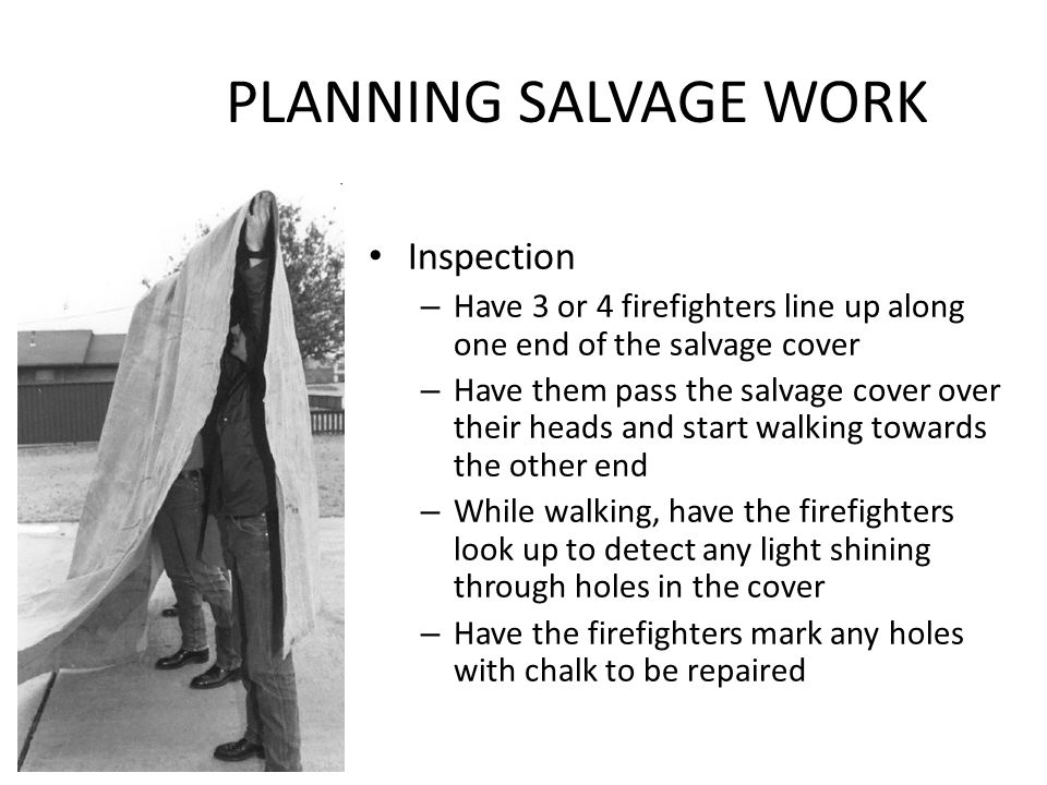 PLANNING SALVAGE WORK Inspection