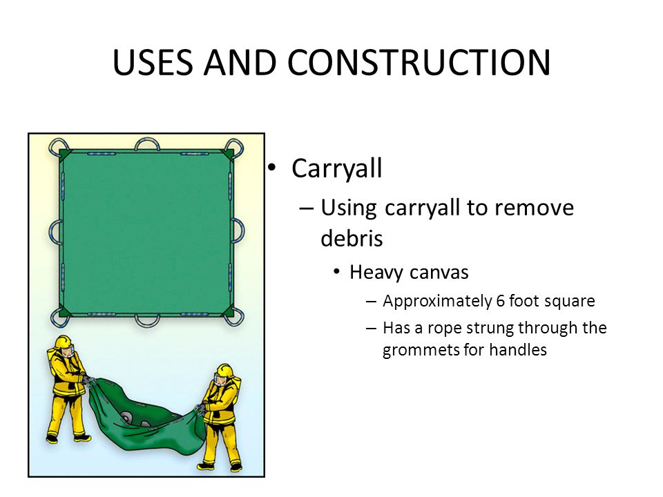 USES AND CONSTRUCTION Carryall Using carryall to remove debris