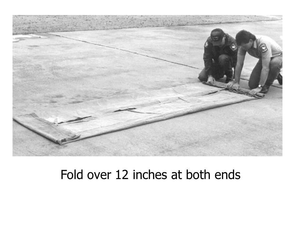Fold over 12 inches at both ends