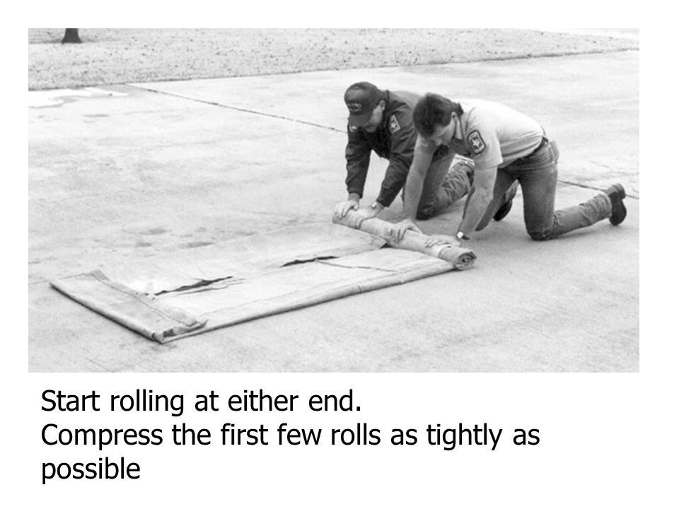 Start rolling at either end.