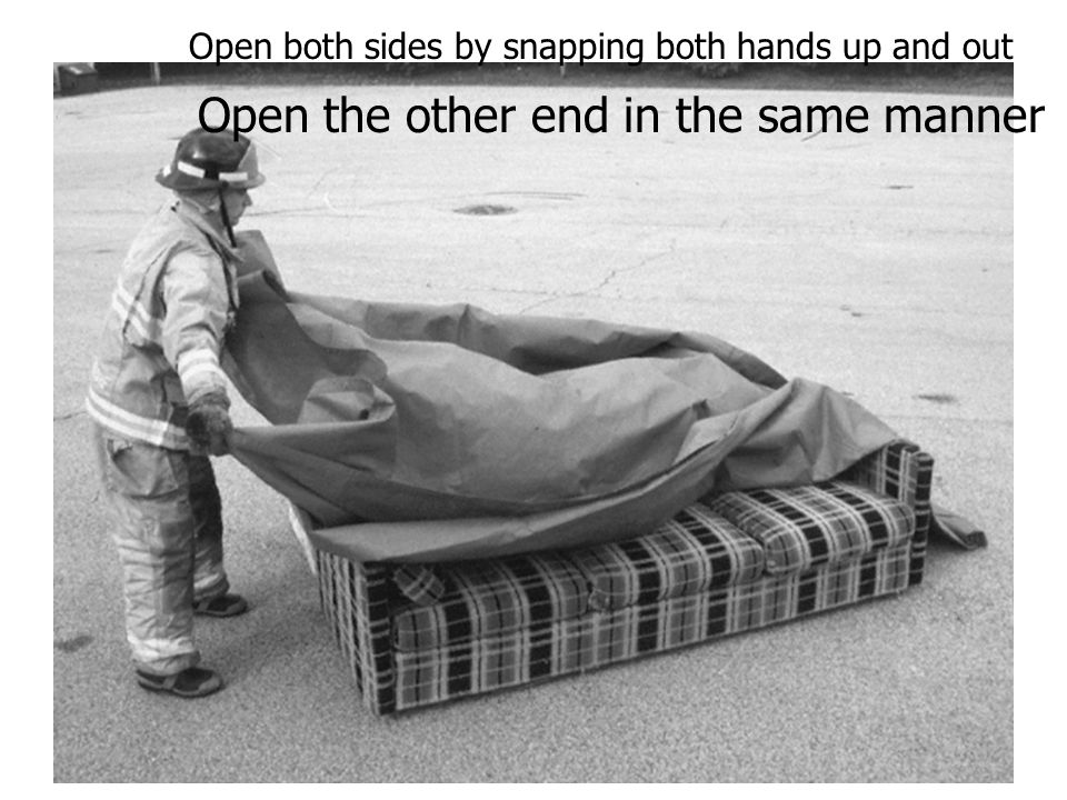Open the other end in the same manner