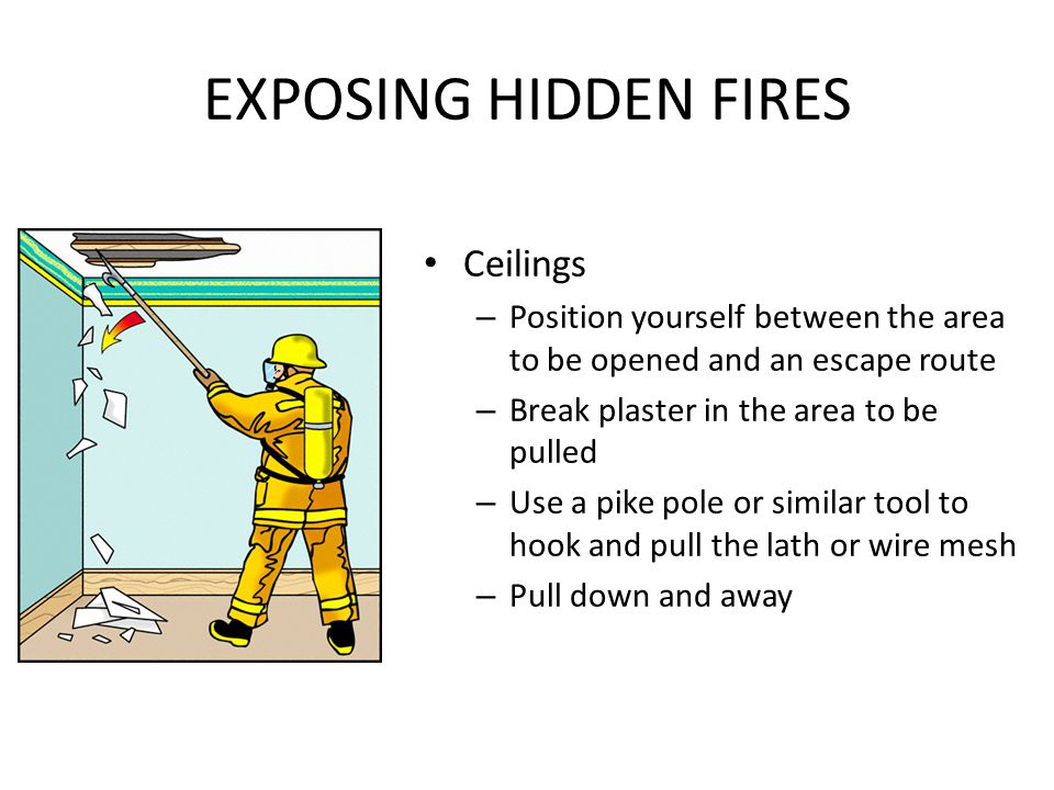 EXPOSING HIDDEN FIRES Ceilings