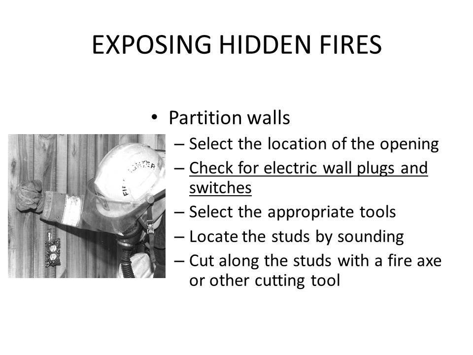 EXPOSING HIDDEN FIRES Partition walls
