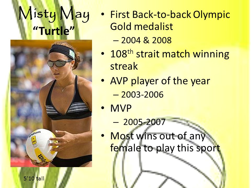 Misty May Turtle First Back-to-back Olympic Gold medalist
