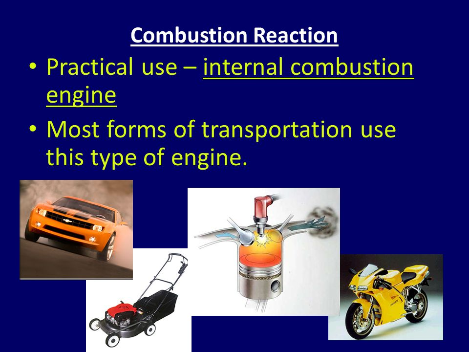 Practical use – internal combustion engine
