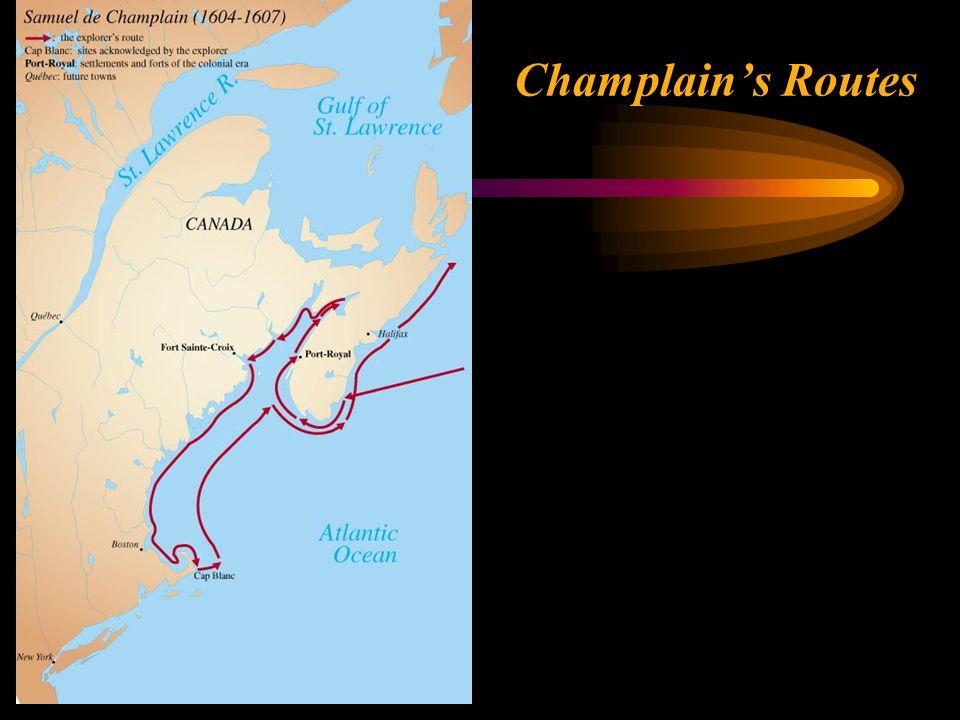 Champlain's Routes