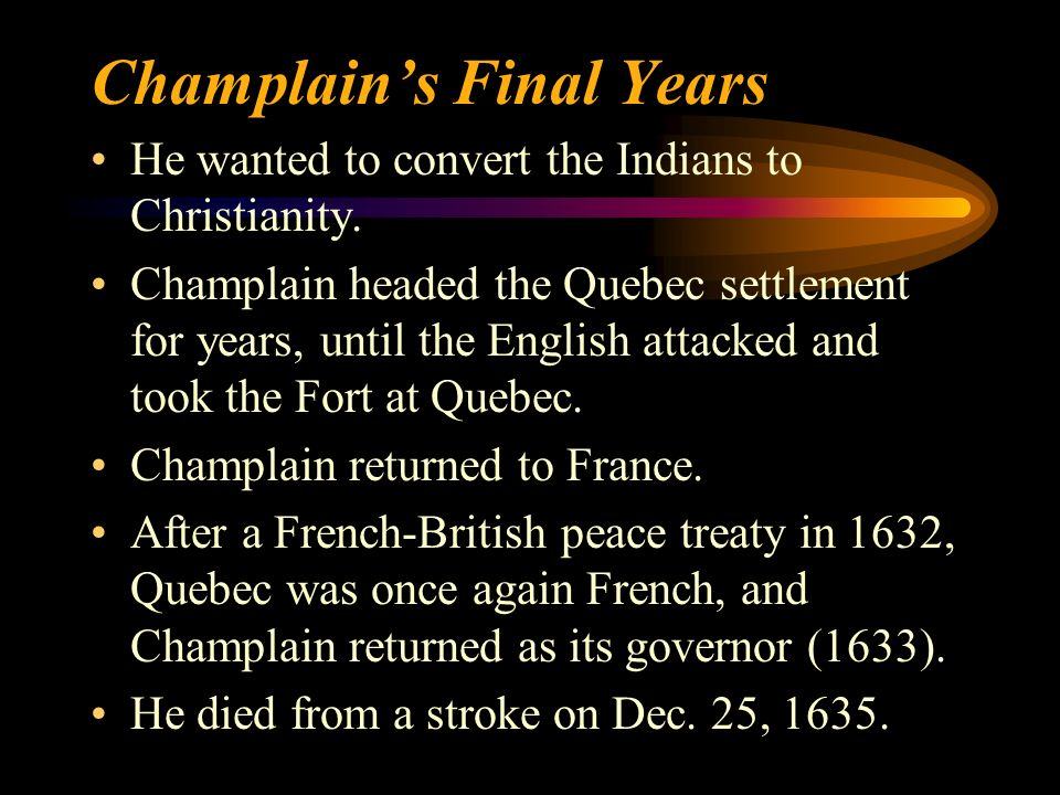 Champlain's Final Years