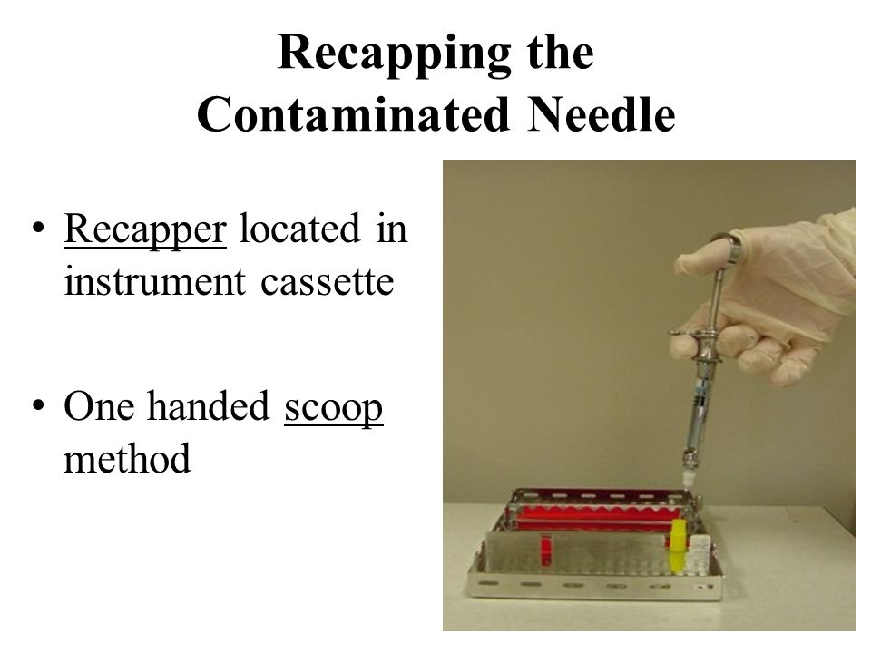 Recapping the Contaminated Needle