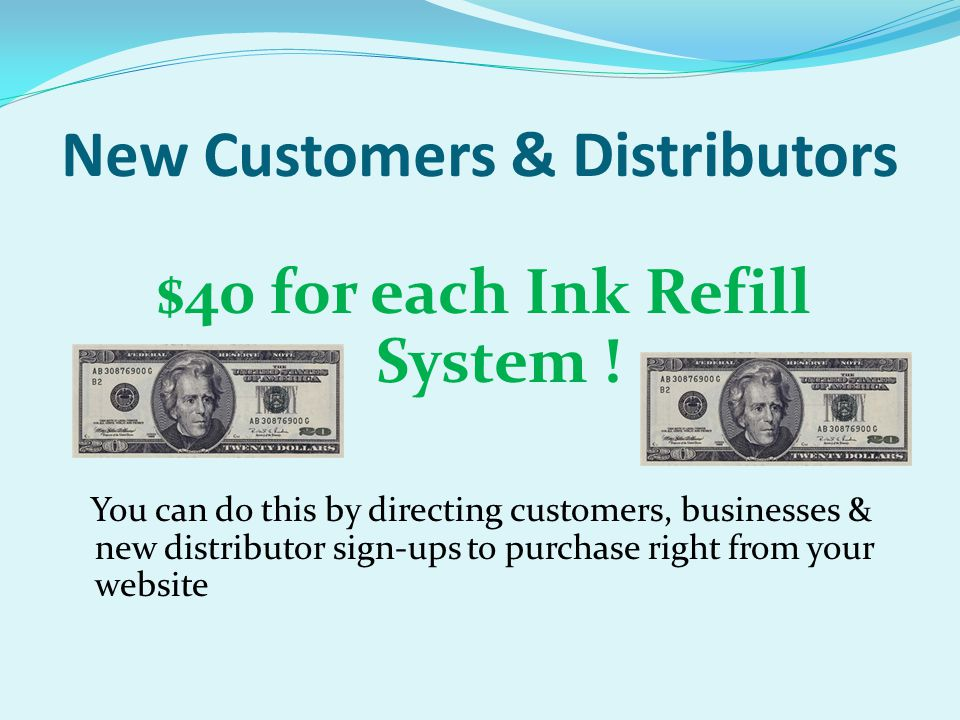 New Customers & Distributors