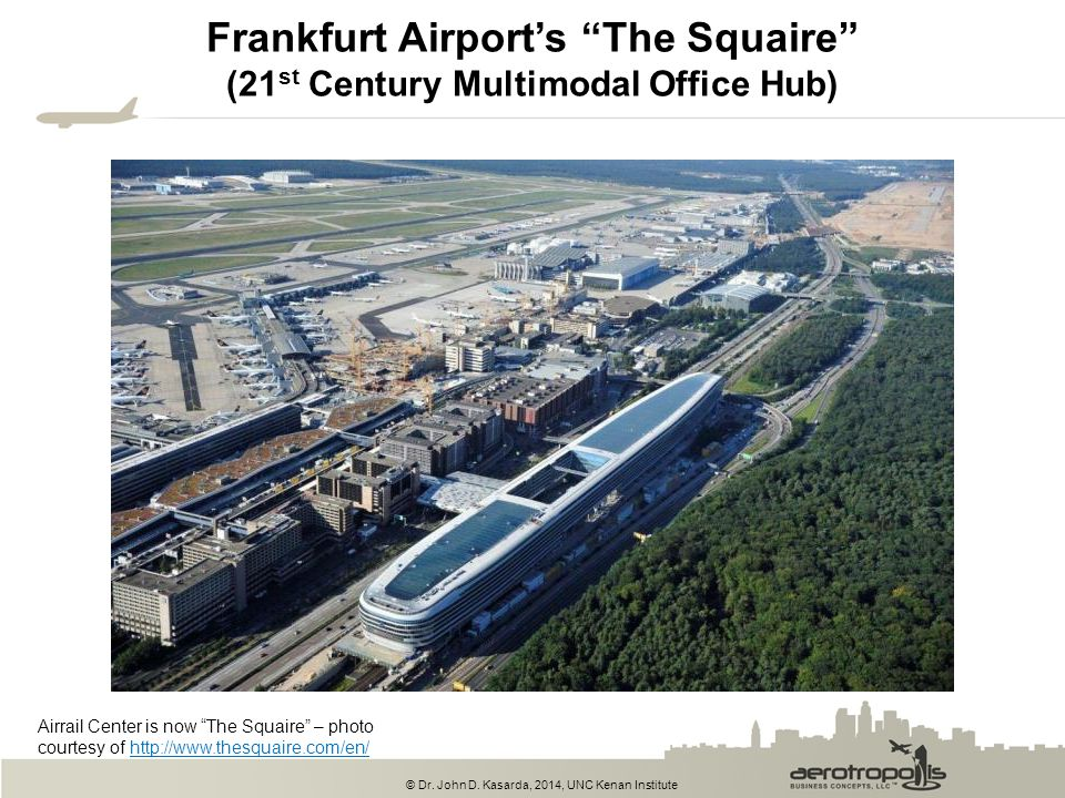 Frankfurt Airport's The Squaire (21st Century Multimodal Office Hub)