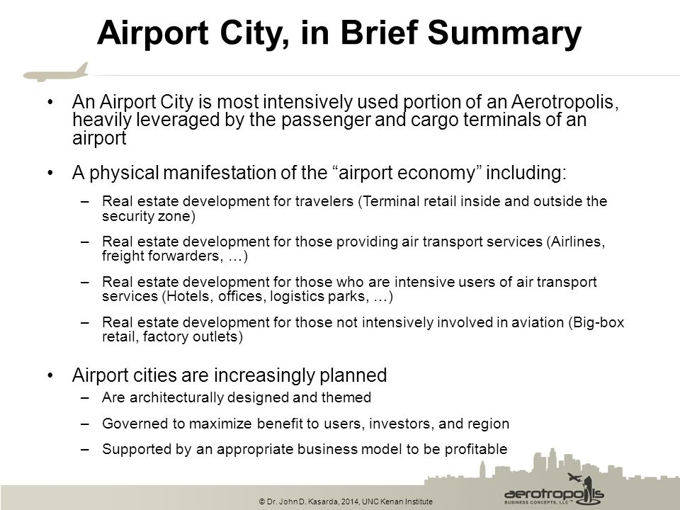 Airport City, in Brief Summary