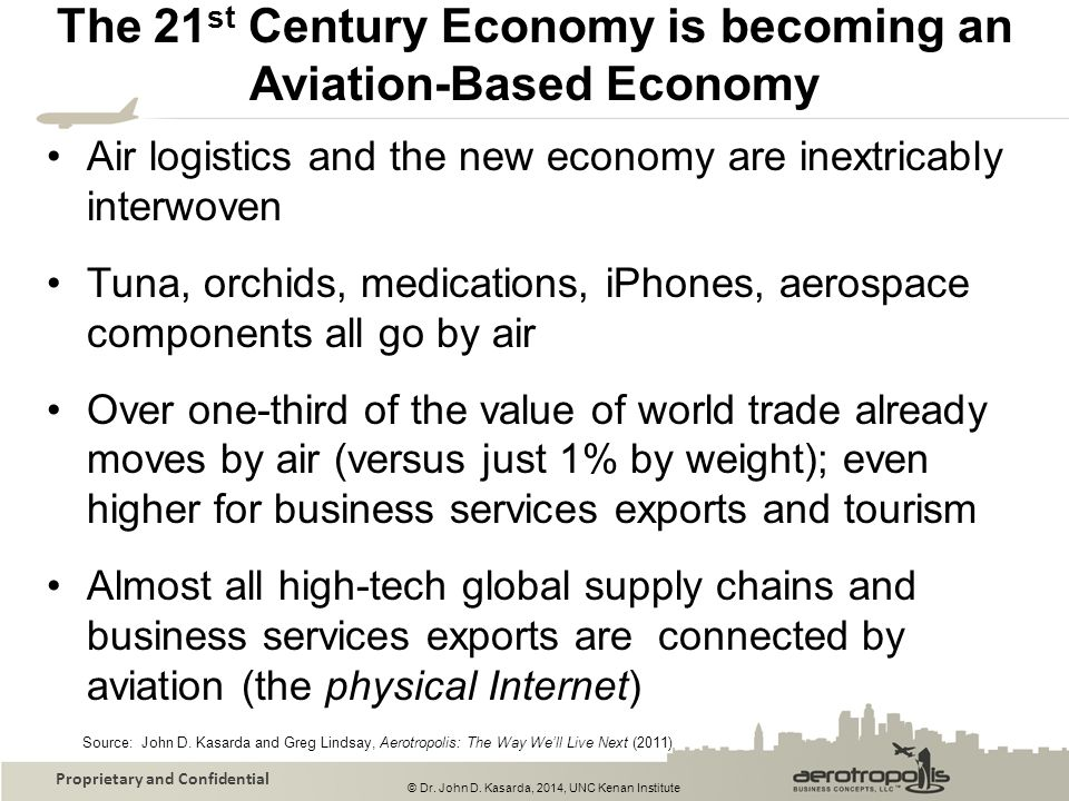The 21st Century Economy is becoming an Aviation-Based Economy