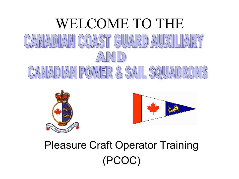 Pleasure Craft Operator Training (PCOC)