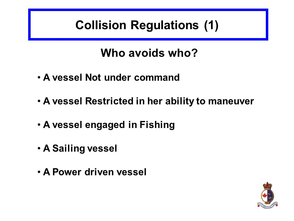 Collision Regulations (1)