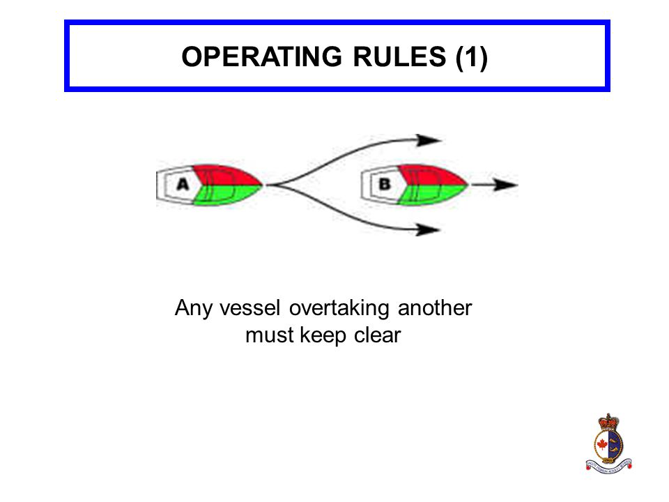 Any vessel overtaking another must keep clear