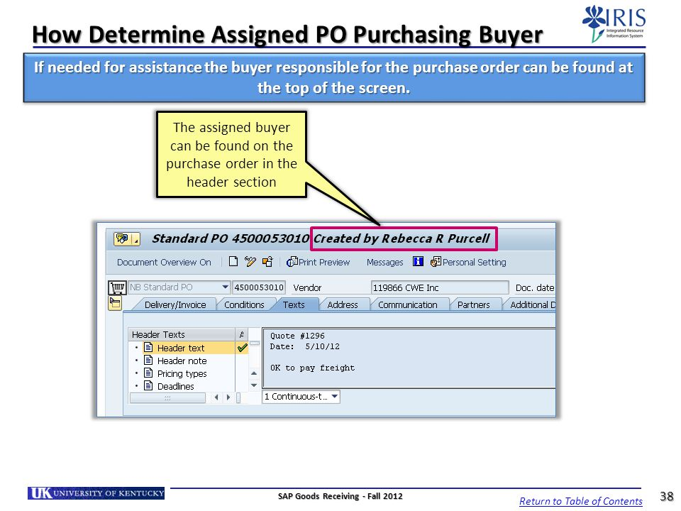 How Determine Assigned PO Purchasing Buyer