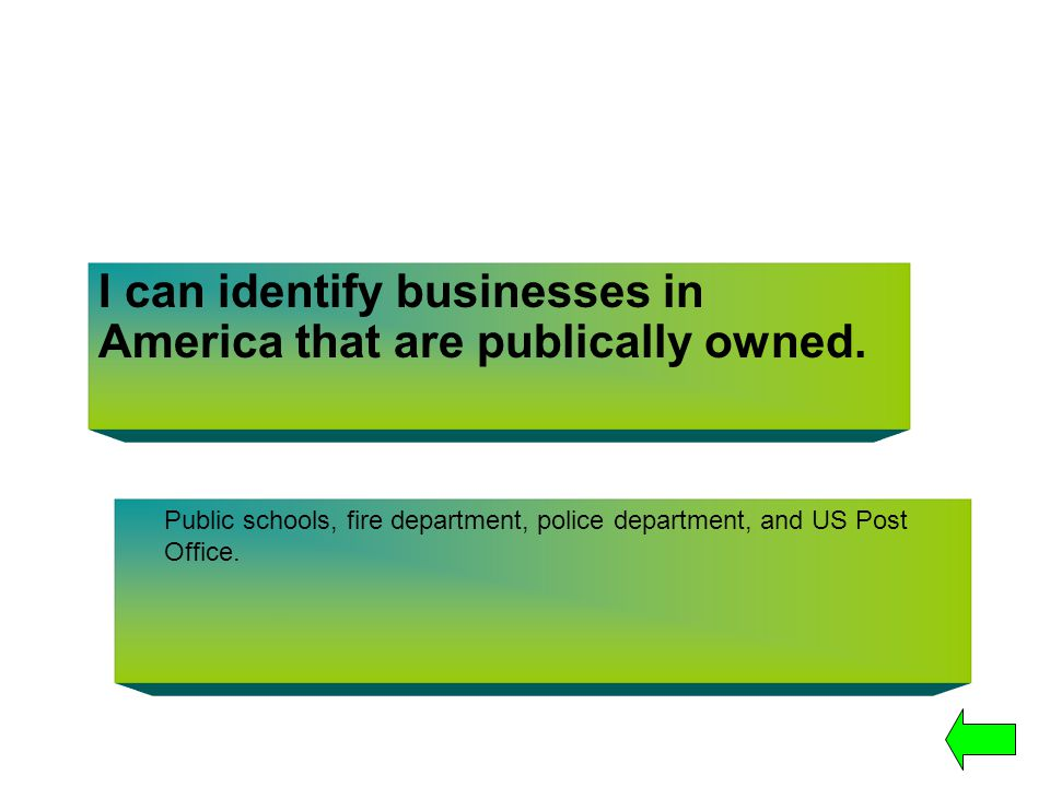 I can identify businesses in America that are publically owned.