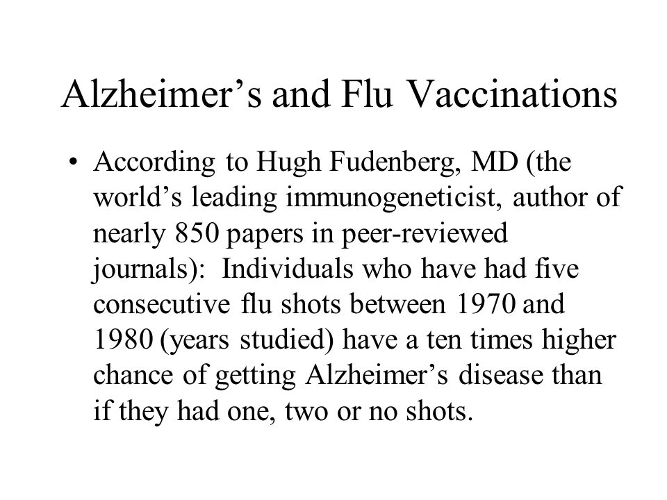 Alzheimer's and Flu Vaccinations
