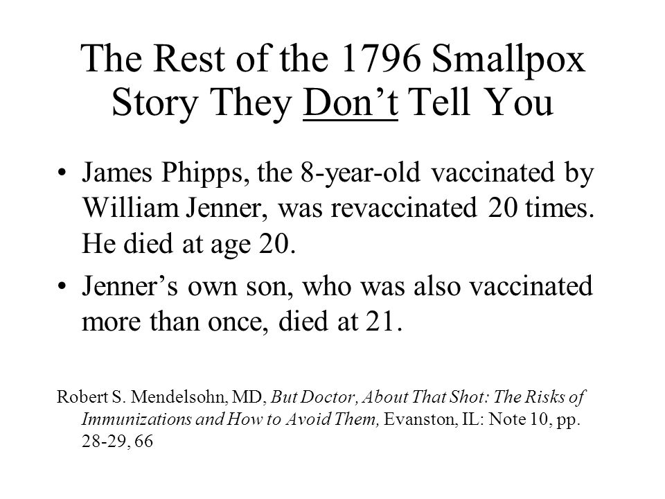 The Rest of the 1796 Smallpox Story They Don't Tell You