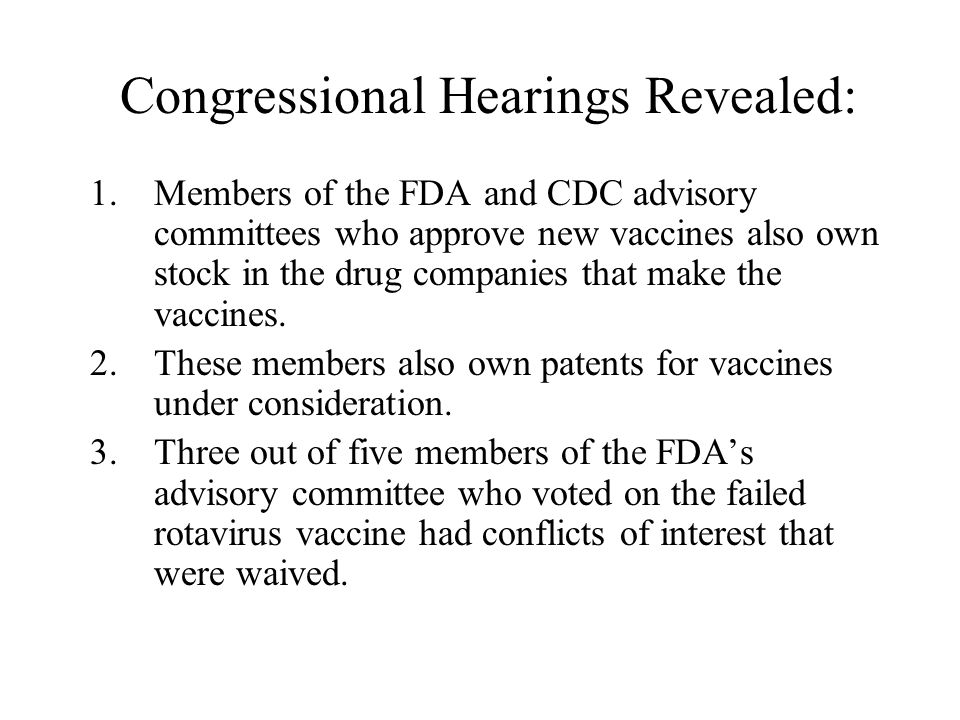 Congressional Hearings Revealed: