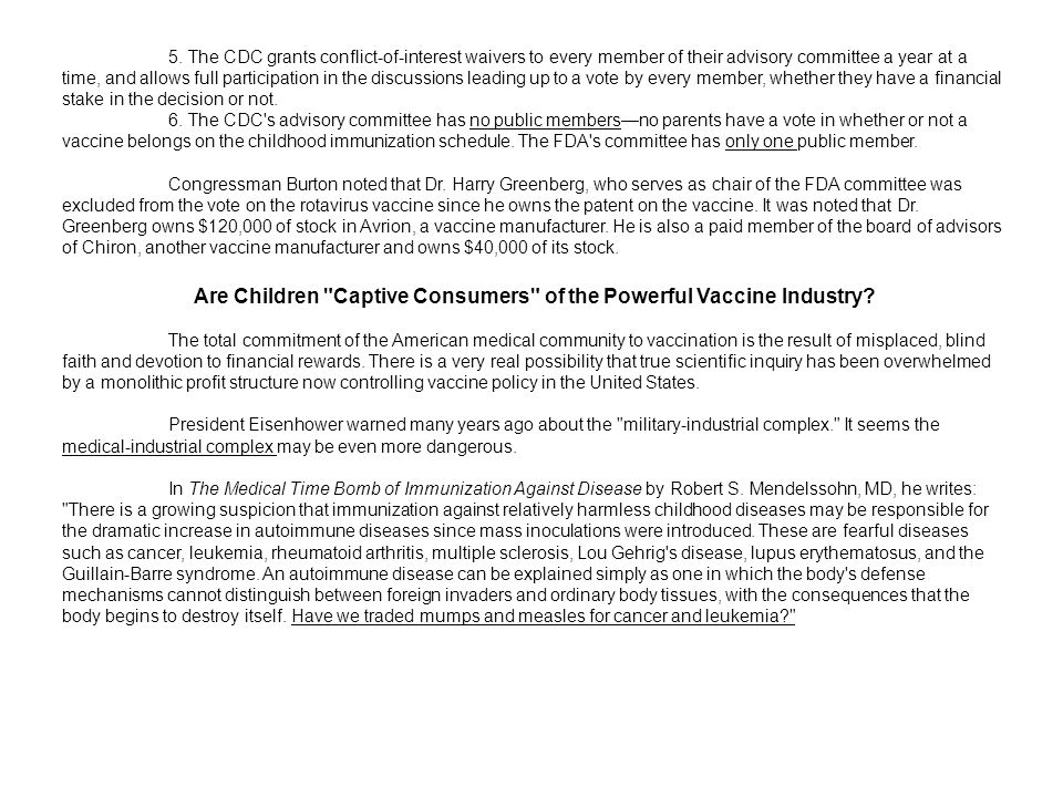 Are Children Captive Consumers of the Powerful Vaccine Industry