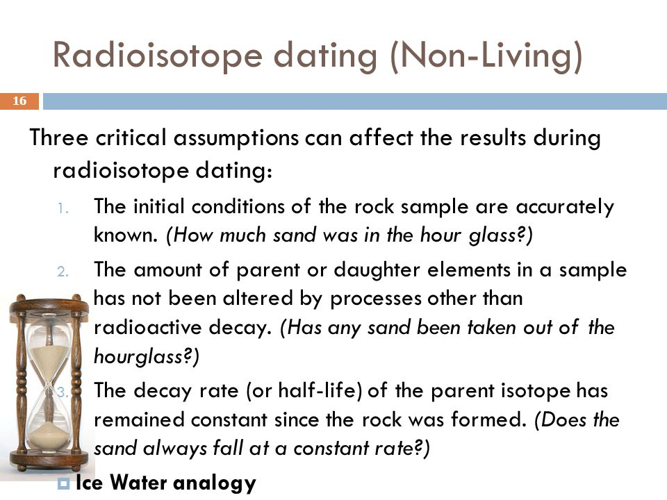 Radioisotope dating (Non-Living)