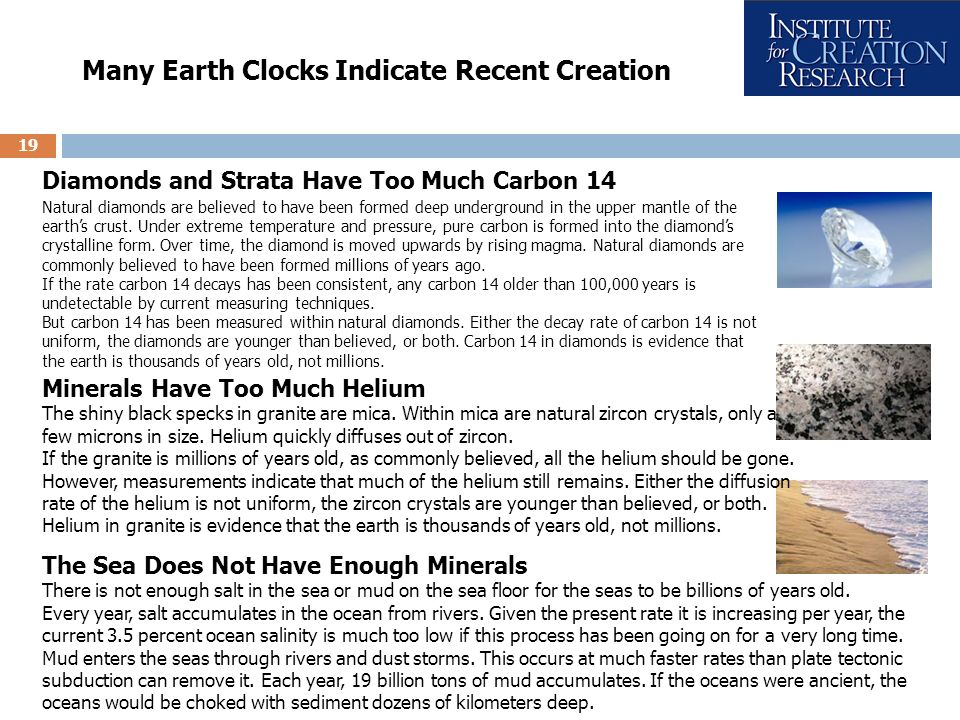 Many Earth Clocks Indicate Recent Creation